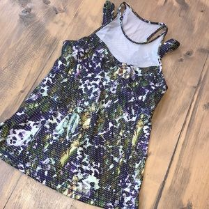 LULULEMON RUNNING IN THE CITY  FLORAL RACERBACK